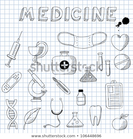 doodle doctors bag icon stock photo © pakete