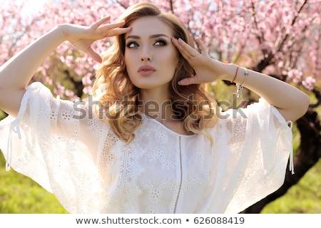 portrait · femme · robe · belle · femme - photo stock © o_lypa