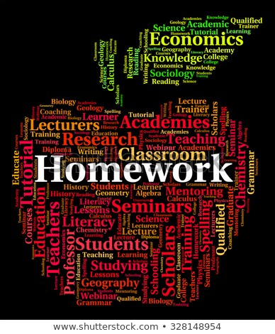 Homework Word Means Learning Education And Task Stock photo © stuartmiles