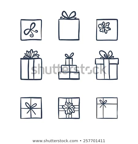 Doodle Gift Box Icon Stock photo © pakete