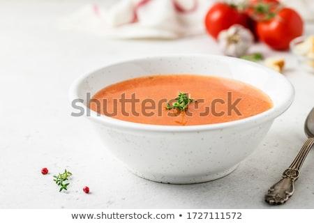 Sopa de tomate sopa frio vegetal cozinha culinária Foto stock © M-studio
