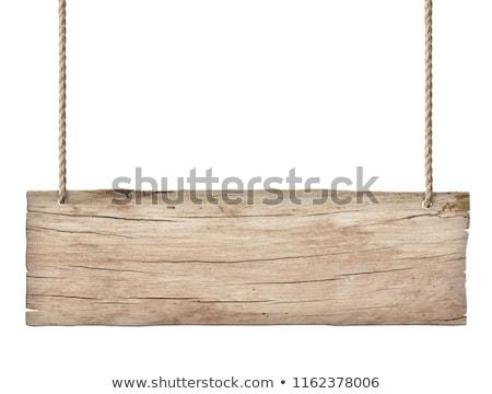 прямоугольный иллюстрация трава древесины знак Сток-фото © bluering