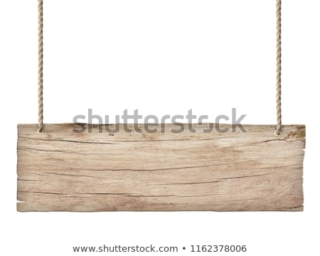 A rectangular wooden signboard Stock photo © bluering