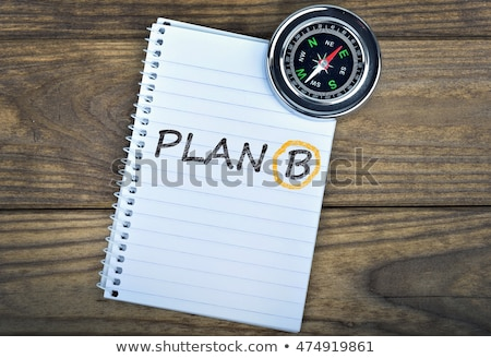 B-terv szó jegyzettömb toll üzlet jövő Stock fotó © fuzzbones0