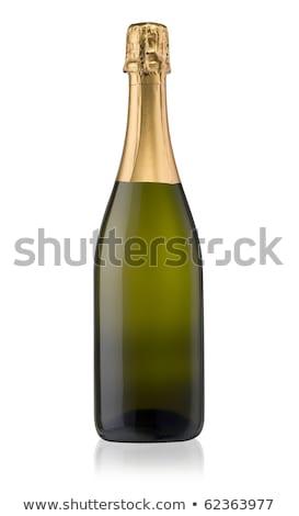 lege · glas · fles · witte · wijn · blauwe · hemel · wijn - stockfoto © kayros