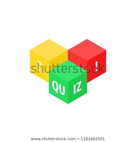 Color cubes question Stock photo © Oakozhan