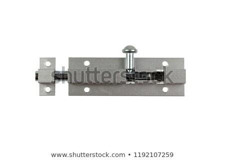 Macro foto deur behandelen opschrift Stockfoto © bezikus