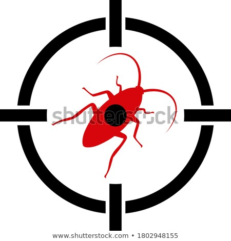 Bug in crosshair  - insect insecticide, cockroach on target Stock photo © gomixer