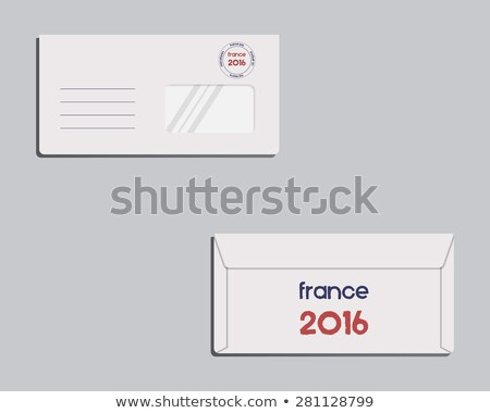 brand identity template envelope front and back sides france 2016 football the national colors o stock photo © jeksongraphics