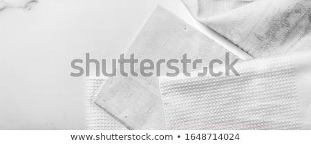 Branco tecido guardanapo limpar pano Foto stock © Digifoodstock