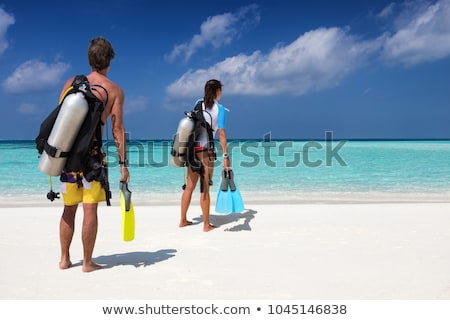 woman in bikini with the equipment for diving stock photo © nobilior
