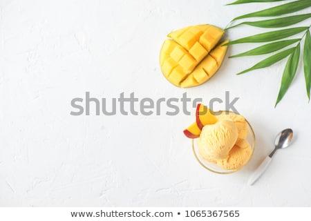 фрукты мороженым мягкой киви пластина десерта Сток-фото © Digifoodstock