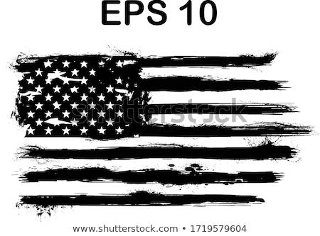 USA gwiazdki czarny banderą amerykański Zdjęcia stock © nicemonkey