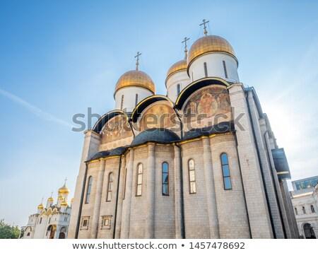 kathedraal · Moskou · Rusland · fragment · hemel · wolken - stockfoto © nobilior