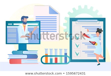 doctor consultation online banner vector medical illustration stock photo © leo_edition