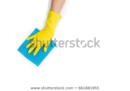 Hand in rubber glove cleaning Stock photo © Hofmeester