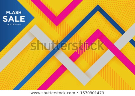 résumé · bleu · vente · réduction · bon · affiche - photo stock © SArts