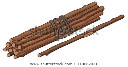 Single stick and bunch of sticks Stock photo © bluering