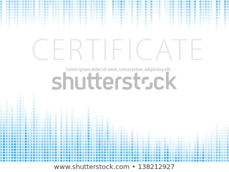 abstract blue wave certificate of achievement template design stock photo © sarts