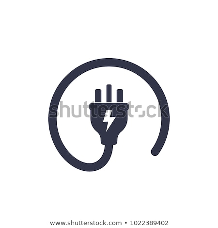 Electrician with power plug Stock photo © Saphira