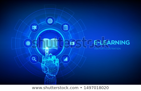 hand touching online coaching button stock photo © tashatuvango