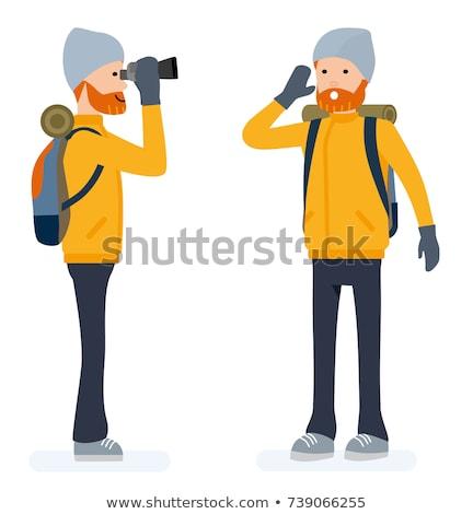 climber looking through binoculars stock photo © is2
