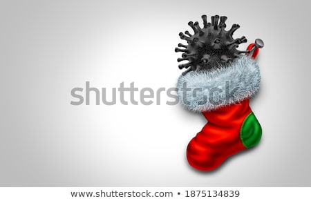 Chunk Of Coal In Stocking Stock photo © Lightsource