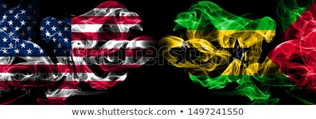 Football in flames with flag of sao tome and principe Stock photo © MikhailMishchenko