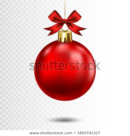 vector merry christmas illustration with gold glass ball cutout paper star and typography elements stock photo © articular
