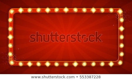 Pot banner vector casino licht Stockfoto © pikepicture