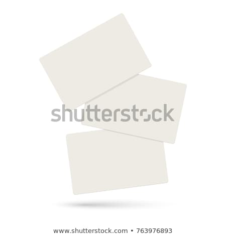 Blank business card on money background Stock photo © ivelin