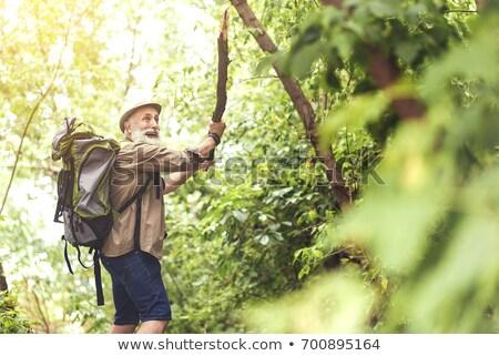 зрелый человек завода природы весело рабочих Сток-фото © IS2