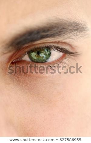 Adam yeşil gözleri teknoloji ekran dijital Stok fotoğraf © wavebreak_media