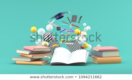 open isometric icon isolated on color background stock photo © sidmay