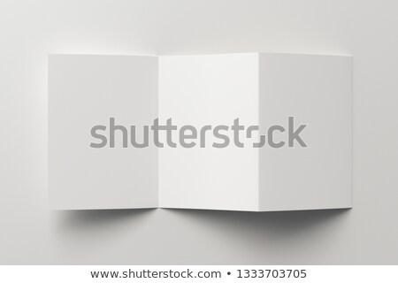 Livret trois papier blanche brochure Photo stock © romvo