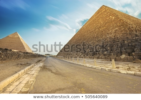 Road to pyramids Stock photo © Givaga