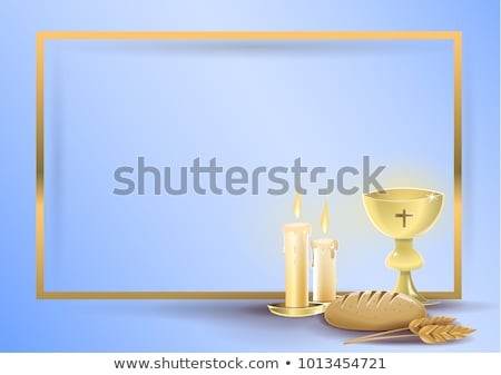 Stock photo: Symbol christianity religion, communion background