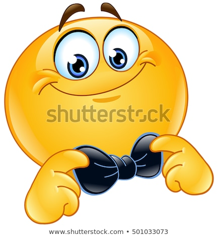 Emoticon hand man gelukkig teken Stockfoto © yayayoyo