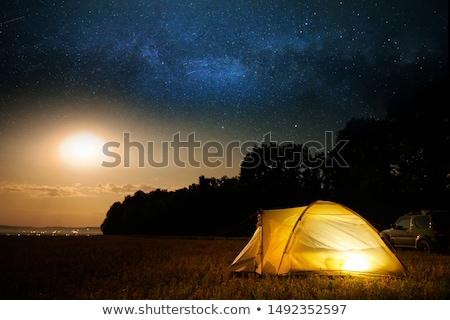 Camping tenda chiaro di luna illustrazione natura luna Foto d'archivio © adrenalina