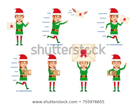 Feliz natal elfo corrida ilustração festa Foto stock © bluering