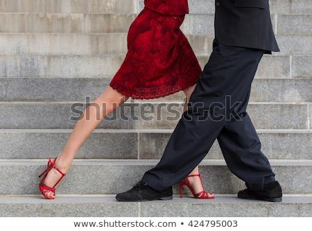 Tango sapatos pormenor masculino textura Foto stock © boggy
