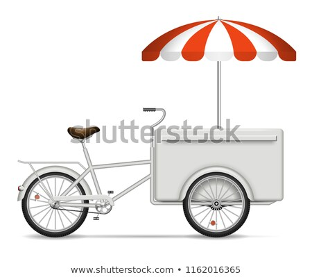 Ice Cream and Pizza Wagons Vector Illustration Stock photo © robuart