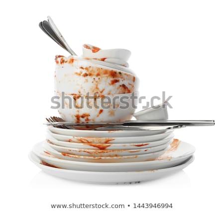 brudne · kuchnia · dania · przymusowy · domu - zdjęcia stock © bendzhik