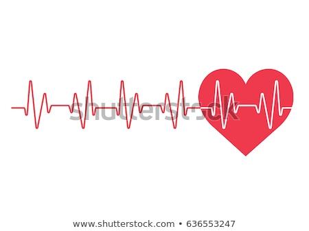 Latido del corazón rojo resumen ciencia médicos ilustración Foto stock © alexaldo