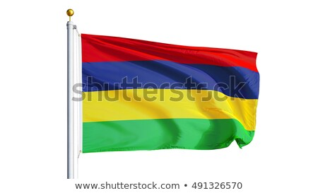 Mauritius flag isolated on white Stock photo © daboost