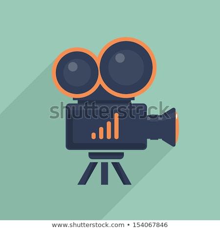 Filmadora ícone vetor isolado branco Foto stock © smoki