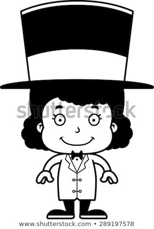 Karikatür gülen kız çocuk kişi Stok fotoğraf © cthoman
