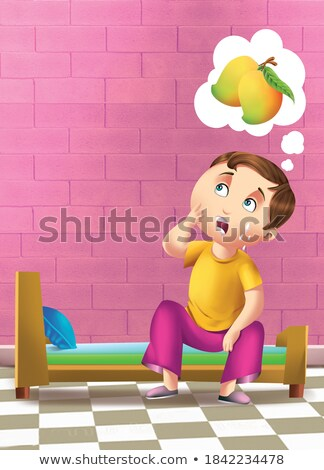 A foolish boy character Stock photo © bluering