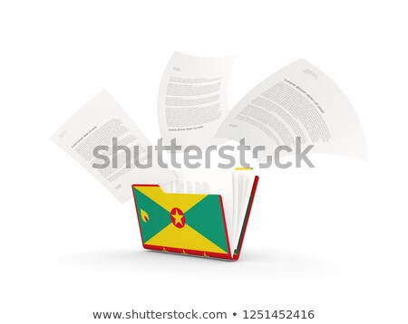 флаг · Гренада · флагшток · 3d · визуализации · изолированный · белый - Сток-фото © mikhailmishchenko