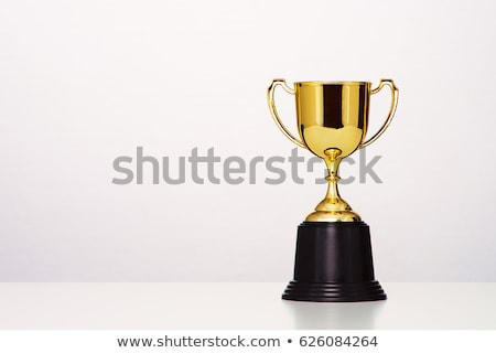 Three Golden Cups Isolated on White Background Stock photo © robuart